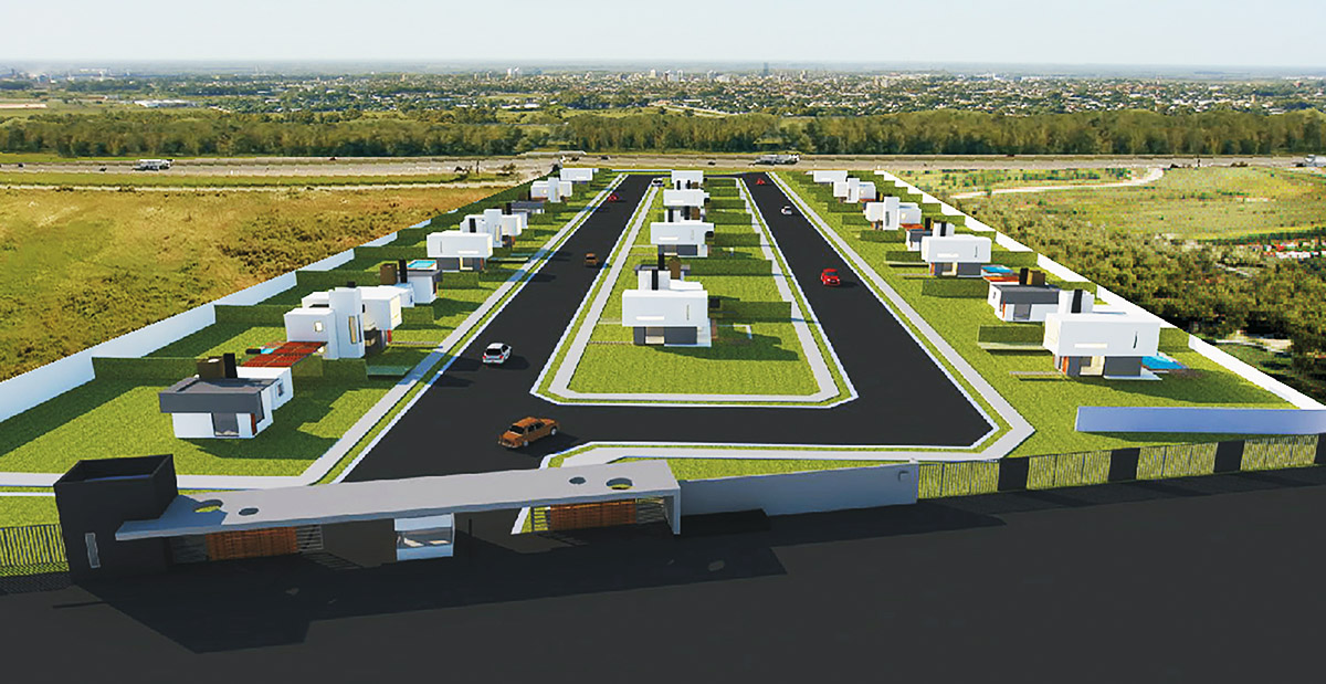 Vista aerea - Barrio Privado ANCALIA